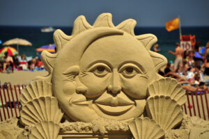 Sand Sculpture- Sun & Moon