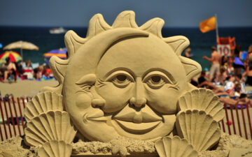 Sand Sculpture- Sun & Moon